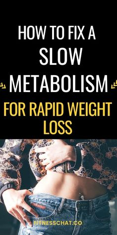 Hey lady, do you want to lose weight fast? Start by learning how to boost metabolism for weight loss and how to fix a slow metabolism. Fat loss tips for rapid weight loss