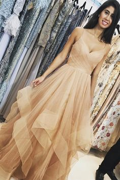 prom dress, champagne prom dress, long prom dress, 2018 prom dress, gorgeous straps champagne long prom dress