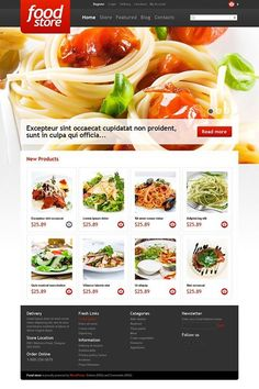 Inspire yourself!   Food Store Jigoshop Theme view live demo  http://cattemplate.com/website-template/food-store-jigoshop-theme/