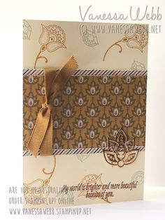 Mediterranean Achievers Blog Hop - Petals and Paisleys - available September 1 - masculine card with autumn colours - Vanessa Webb Independent Stampin' Up! Demonstrator Australia