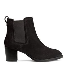 PREMIUM QUALITY. Suede ankle boots with elastic side panels. Heel height 2 1/4 in. Rubber soles. size 7