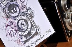 Vintage Camera Wedding Invite, by 'Satin and Tat'