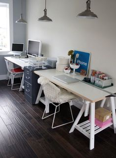 Cool Double Desk (think these are from ikea)