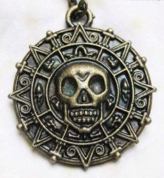 Cursed Pirate Doubloon Necklace - Pirates of the Caribbean Necklace: