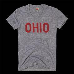 Vintage Women's Block Ohio T-Shirt