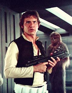 Han Solo and Chewbacca from Star Wars