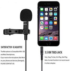 Amazon.com: Professional #1 Best Lavalier Lapel Microphone Omnidirectional Condenser Mic for Apple IPhone Android & Windows Smartphones,Youtube,Interview,Studio,Video Recording,Noise Cancelling Mic: Musical Instruments