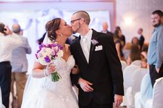 #BigDay #weddings #realweddings    Samantha and Daniel's Mint and Purple Wedding