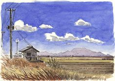 Watercolor Sketches in Japan by Olivier ( part 2) on Behance