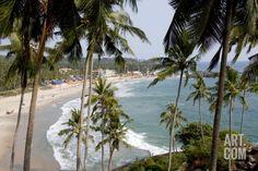View of Kovalam Beach, Trivandrum, Kerala, India, Asia Photographic Print by Balan Madhavan at Art.com