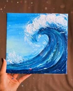 Easy Canvas Art, Small Canvas Art, Canvas Painting Tutorials, Art Drawings Sketches Simple, Canvas Paintings, Acrilic Paintings, Painting Art, Easy To Paint, How To Paint