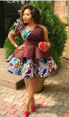 Latest Ankara Short Gowns for Beautiful Ladies.Latest Ankara Short Gowns for Beautiful Ladies African Fashion Ankara, Latest African Fashion Dresses, African Print Fashion, Africa Fashion, Unique Ankara Styles, Ankara Dress Styles, African Print Dresses, African Prints, Short Ankara Dresses