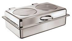 Chafing Dish Rectangular Elect.USA Atlantic Buffet System S/Steel