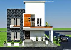 10 marla ,modern architecture house plan-corner plot | home design