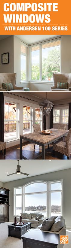 When you're looking for a step up from vinyl, look to Andersen 100 Series windows and patio doors. Not only are they low maintenance and energy efficient, they're also available in dark colors – both inside and out. Made of environmentally friendly Fibrex material which is 2x stronger and more durable than vinyl, they feature a premium matte finish and clean attractive corners. All this makes them a better choice for your home. Click through to see them at The Home Depot.