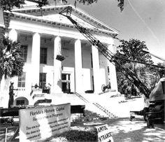 Beginning of historic 1902 Capitol restoration - Tallahassee, Florida