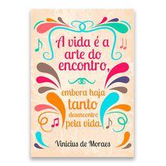 Pôster frases de Vinicius de Moraes