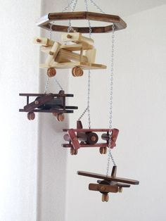 NEW - Airplane Mobile with 4 different planes. $39.95, via Etsy.
