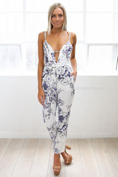tempest jumpsuit - blue | Esther clothing Australia and America USA, boutique online ladies fashion store, shop global womens wear worldwide, designer womenswear, prom dresses, skirts, jackets, leggings, tights, leather shoes, accessories, free shipping world wide. – Esther Boutique