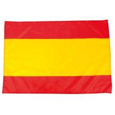 Bandera de España en suave y resistente poliéster con cintas de ajuste. #bandera #España Flag, Spain Flag, Inspirational Message, Promotional Giveaways, Balearic Islands, Bias Tape, Balconies, Science, Flags