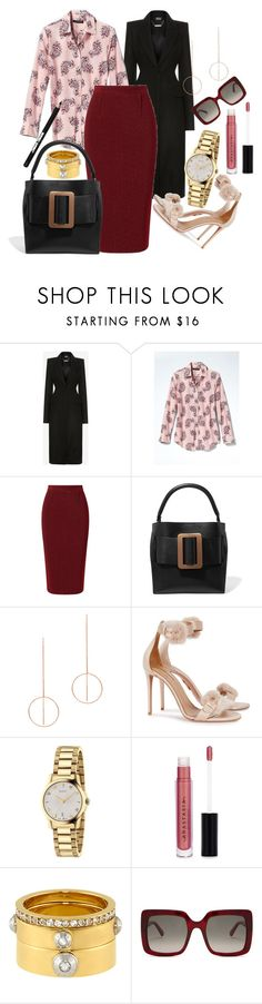 """#untitled"" by somodishlychic on Polyvore featuring Alexander McQueen, Banana Republic, Roland Mouret, Maria Black, Aquazzura, Gucci, Anastasia Beverly Hills, Henri Bendel, STELLA McCARTNEY and Manic Panic NYC"