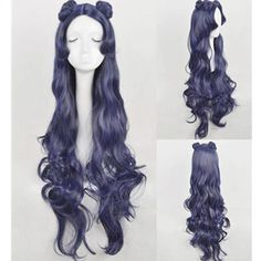 Sailor Moon Human Luna long Purple Wig