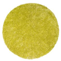 Designers Guild Camana Chartreuse Shaggy Round Rug (special order from Heals)