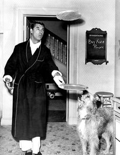 Cary Grant with pooch.