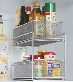 Create a storage space in your kitchen that will last for years with the Mesh Sliding Cabinet Baskets