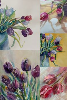 Tulips Watercolor paintings to brighten your walls Artist Painting, Natural World, American Artists, Landscape Paintings, Tulips, Watercolor Paintings, Walls, Fine Art, Abstract