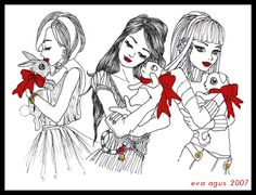 Drawings... great job, I like the use of red!