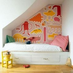 Cute Playing Areas for Kids Under the Stairs