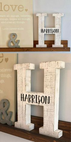 Can't wait to put mine on my mantel! I love how the rustic letter gives the home a charming Farmhouse feel! #modernfarmhouse #farmhouse #farmhousedecor #rusticdecor #initial #ad #farmhousestyle #gallerywall