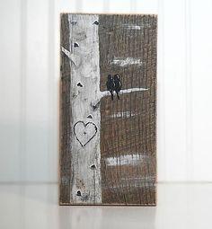 Rustic Wood Signs Reclaimed Wood Art Wood by LindaFehlenGallery