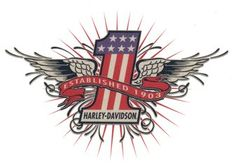 Number 1 with wings looks like American flag. Red banner says Established 1903 Sheet size 2 Tattoo size 2 3 Harley Davidson Seats, Harley Davidson Tattoos, Harley Davidson T Shirts, Harley Davidson Motorcycles, Hd Tattoos, Body Art Tattoos, Mens Tattoos, Tatoos, Viking Tattoo Design