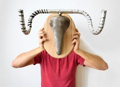 hunting trophy hanger made from recycled bicycle parts