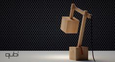 Qubi desk lamp on Behance