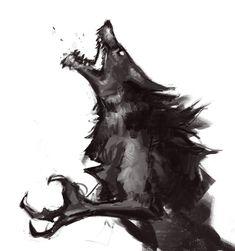 Skyrim Werewolf Sketch by hircine1.deviantart.com on @DeviantArt