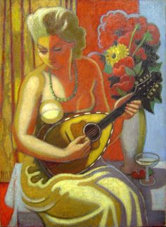 Jean Metzinger  Jeune Femme a la Mandoline 1923