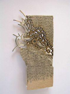 Shiri Avda  brooch, from old books