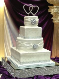 A bling wedding cake. I'm not fond of traditional white cake so it would have to be purple and silver.