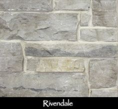 Stone Veneer - Rivendale   Love lots of grout showing. Like this.