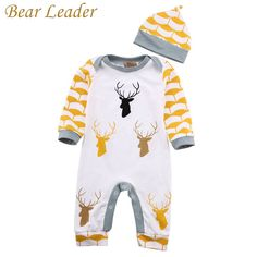 Bear Leader Autumn Winter Baby Rompers Baby Boys Clothes Long Sleeve Jumpsuits Deer Printing Cotton Infant Costume Kids Clothes #>=#>=#>=#>=#> Click on the pin to check out discount price, color, size, shipping, etc. Save and like it!