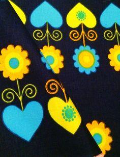 Scandi 60s vintage fabric with fantastic pattern. Scandinavian design, made in Sweden on Etsy, 141:54kr