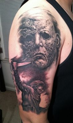 bob tyrell | Michael Myers Tattoo By Bob Tyrell