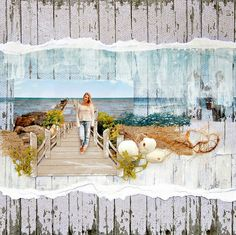 #papercraft #scrapbook #layout On the Pier - FabScraps Beautiful layout By: Jrabs