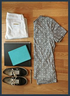 #Vans #sketchbook #Micronpen #HandM #MichealKors #fashion #ootd #thrift #haul #shopping #outfit #polkadots #shoes