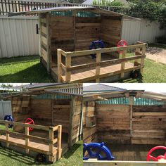 A summer pallet project for kids. Took a few days but well worth the effort.
