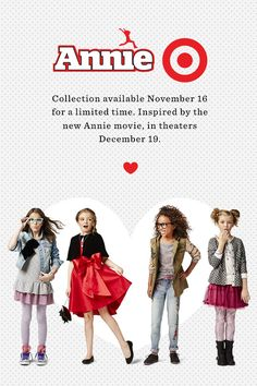 Dress the part from the new Annie movie with Annie-inspired outfits, exclusively at Target November 19.