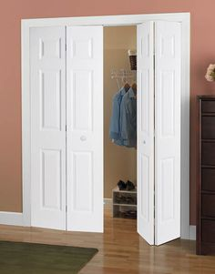 Bi Fold Six Panel Smooth Door #doors #closets #closetdoors